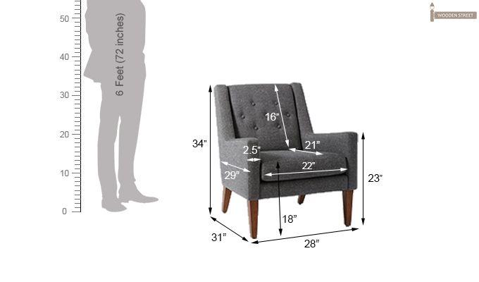 Nancy Wingback Chair (Grey)-3