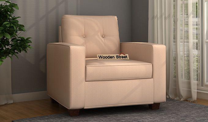 Nicolas 1 Seater Sofa (Irish Cream)-1