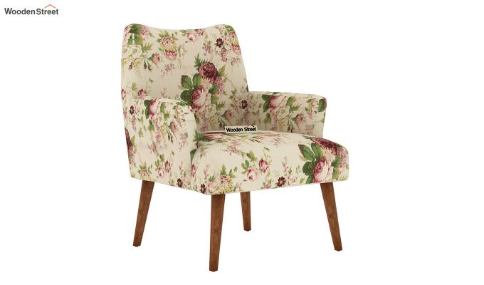 Pesto Lounge Chair (Cotton, Cream Blossom)-2