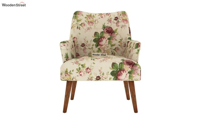 Pesto Lounge Chair (Cotton, Cream Blossom)-3
