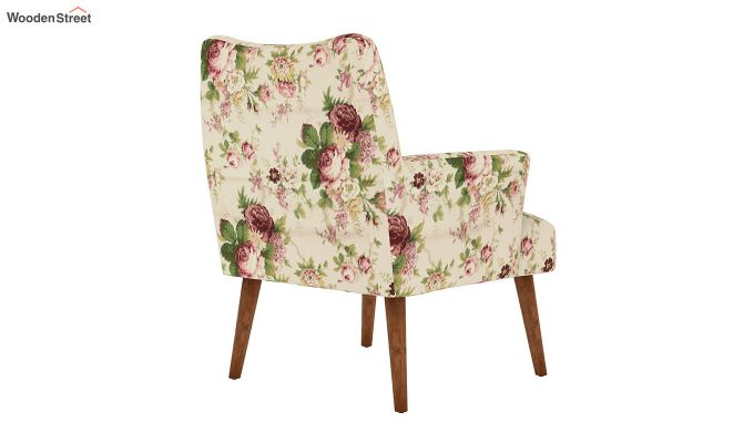 Pesto Lounge Chair (Cotton, Cream Blossom)-4