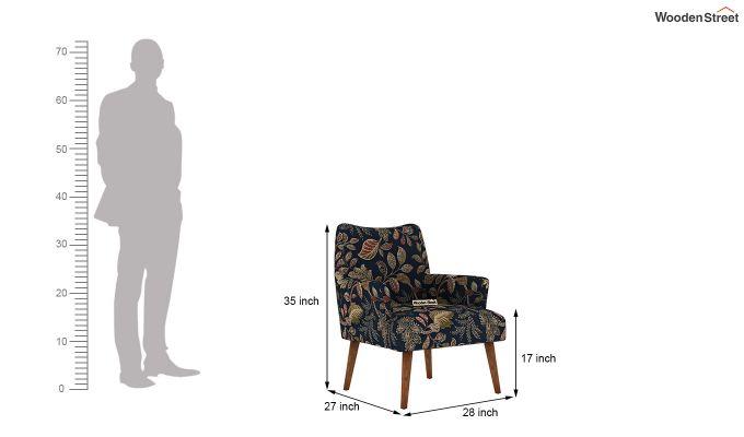 Pesto Lounge Chair (Cotton, Dusky Leaf)-5
