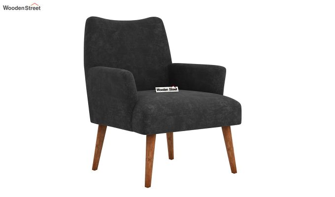 Pesto Lounge Chair (Velvet, Graphite Grey)-2