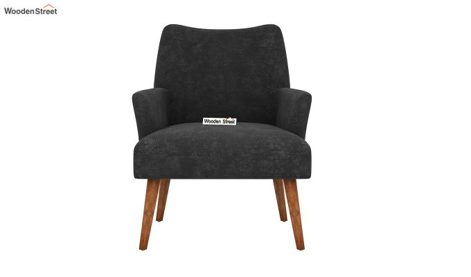 Pesto Lounge Chair (Velvet, Graphite Grey)-3