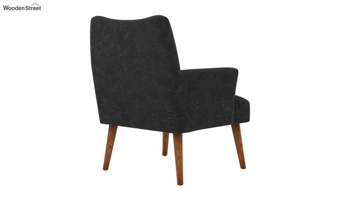 Pesto Lounge Chair (Velvet, Graphite Grey)-4