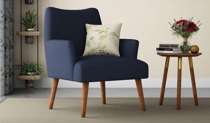 Pesto Lounge Chair (Cotton, Indigo Ink)-1