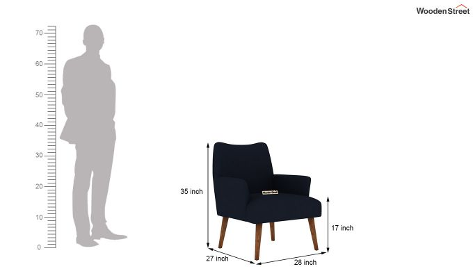 Pesto Lounge Chair (Cotton, Indigo Ink)-5