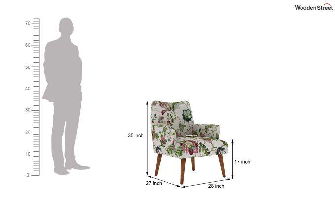 Pesto Lounge Chair (Cotton, Rose Vineyard)-5