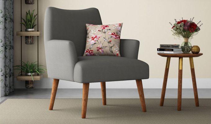 Pesto Lounge Chair (Cotton, Warm Grey)-1