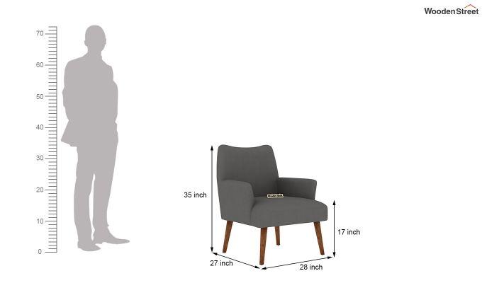 Pesto Lounge Chair (Cotton, Warm Grey)-5