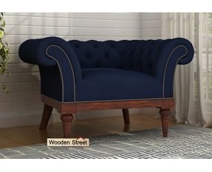 Swanson 1 Seater Sofa (Fabric, Indigo Ink)