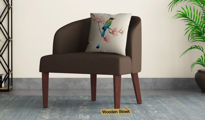 Trove Lounge Chair (Cotton, Classic Brown)-1