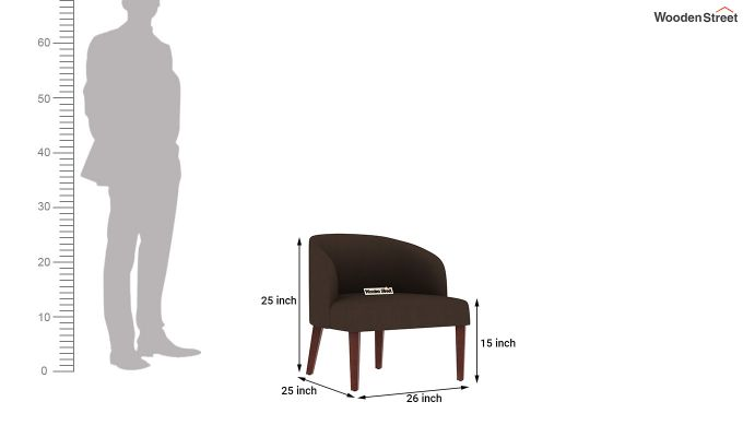 Trove Lounge Chair (Cotton, Classic Brown)-4