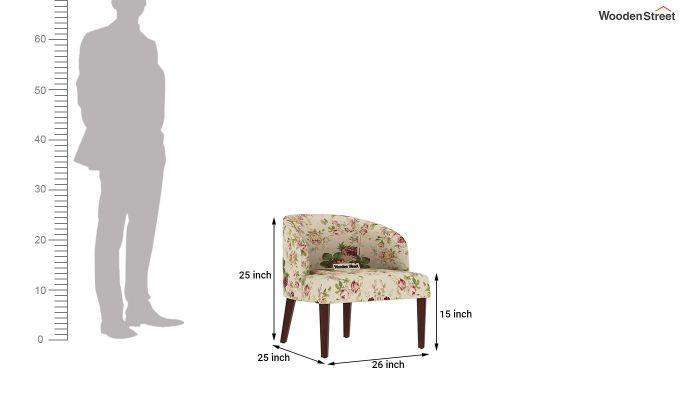 Trove Lounge Chair (Cotton, Cream Blossom)-4