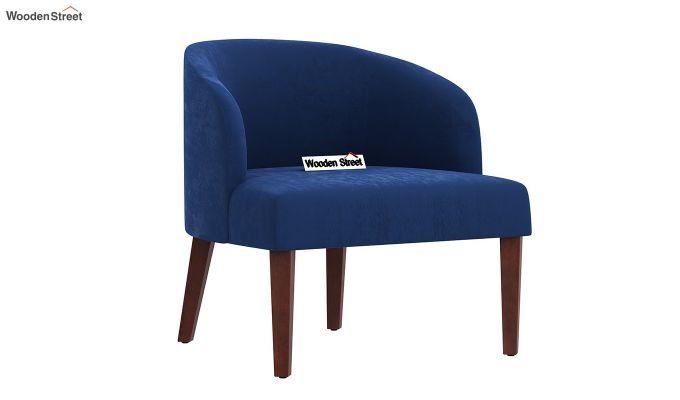 Trove Lounge Chair (Velvet, Indigo Blue)-2