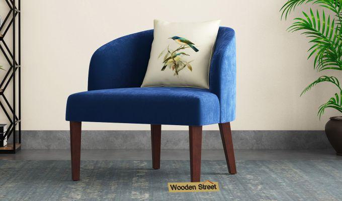 Trove Lounge Chair (Velvet, Indigo Blue)-1