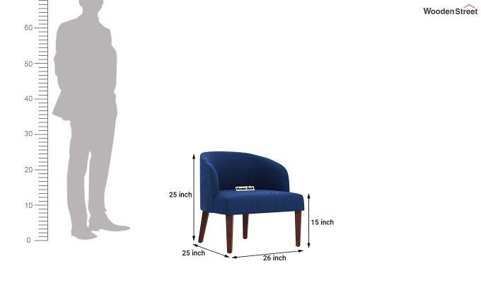 Trove Lounge Chair (Velvet, Indigo Blue)-4
