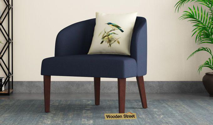 Trove Lounge Chair (Cotton, Indigo Ink)-1