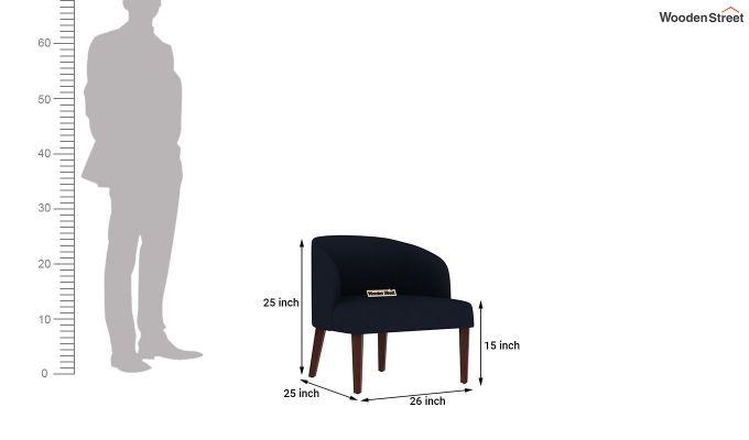 Trove Lounge Chair (Cotton, Indigo Ink)-4