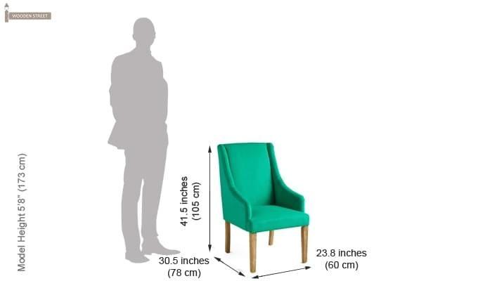 Wohin Wingback Chair (Green)-7