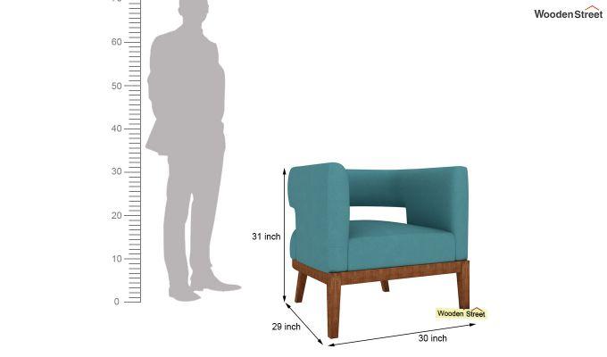 Wolper Lounge Chair (Aqua Marine)-4
