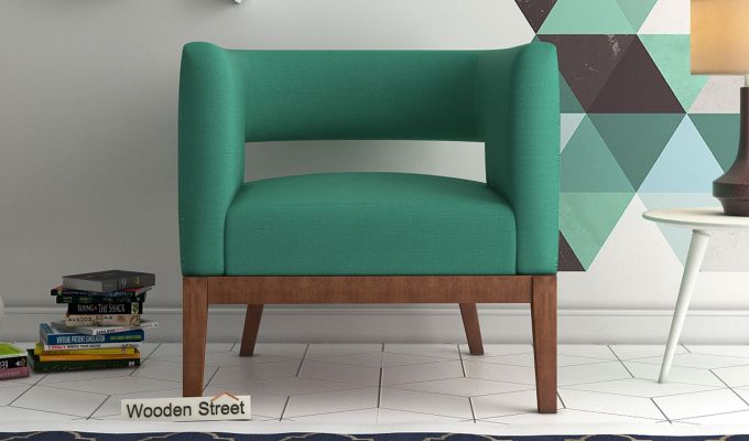 Wolper Lounge Chair (Electric Turquoise)-1