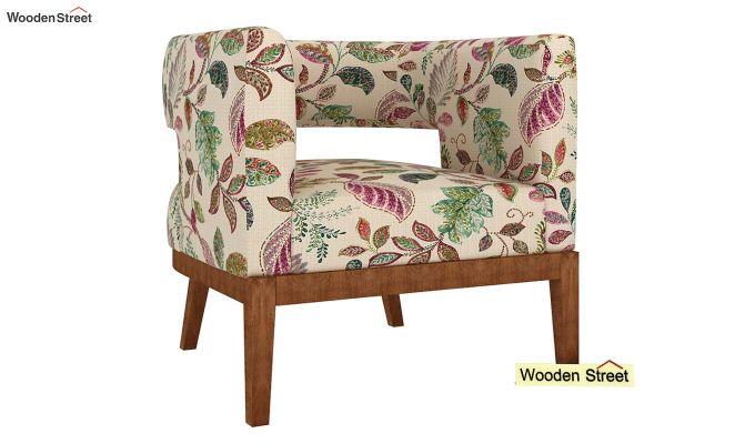 Wolper Lounge Chair (Rosy Leaf)-2