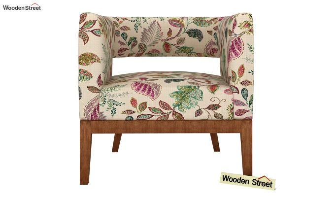 Wolper Lounge Chair (Rosy Leaf)-3