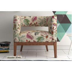 Wolper Lounge Chair (Rosy Leaf)