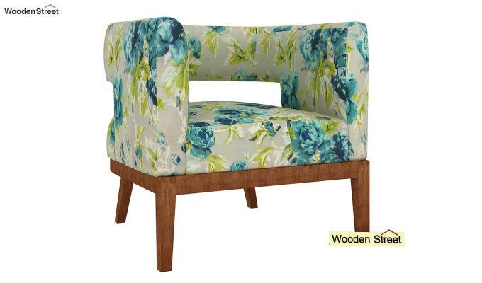 Wolper Lounge Chair (Teal Tulip)-2