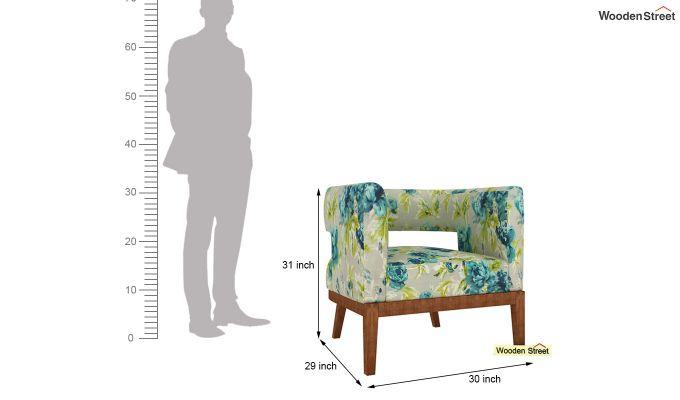 Wolper Lounge Chair (Teal Tulip)-4
