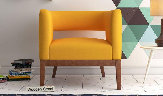 Wolper Lounge Chair (Yellow Blush)-1