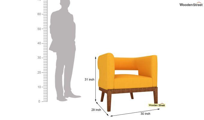 Wolper Lounge Chair (Yellow Blush)-4
