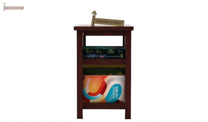 Alden Magazine Rack (Mahogany Finish)-2