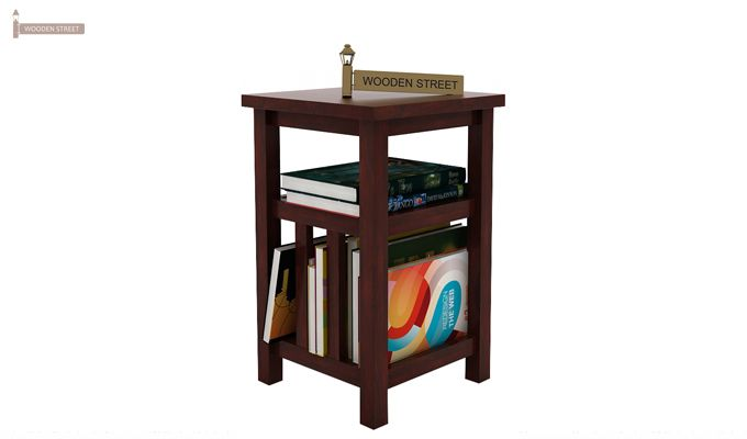 Alden Magazine Rack (Mahogany Finish)-1