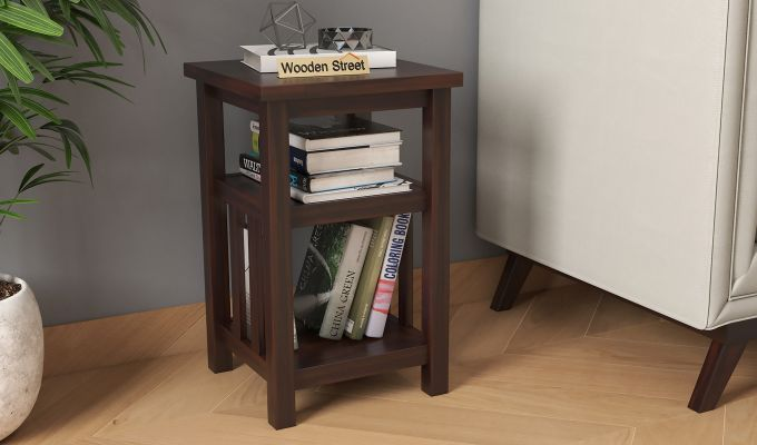 Alden Magazine Rack (Walnut Finish)-1