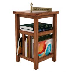 Alden Magazine Rack (Teak Finish)