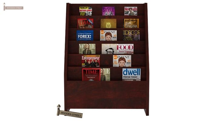 Alder Magazine Rack (Mahogany Finish)-2