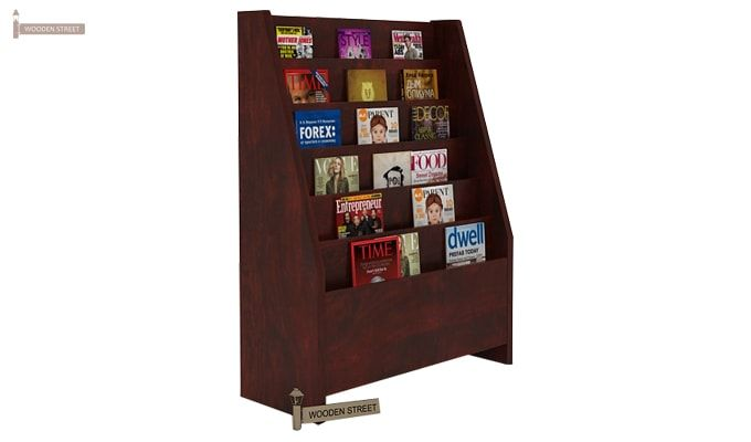 Alder Magazine Rack (Mahogany Finish)-3
