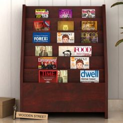 Alder Magazine Rack (Mahogany Finish)