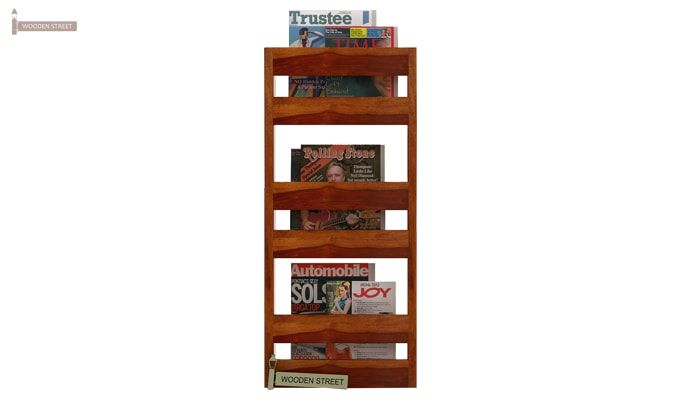 Alnus Magazine Rack (Honey Finish)-2