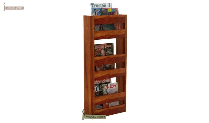 Alnus Magazine Rack (Honey Finish)-3