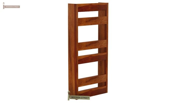 Alnus Magazine Rack (Honey Finish)-5