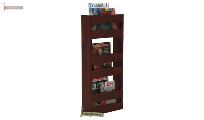 Alnus Magazine Rack (Mahogany Finish)-2