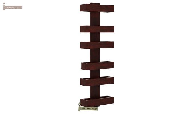 Alnus Magazine Rack (Mahogany Finish)-4