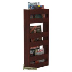 Alnus Magazine Rack (Mahogany Finish)