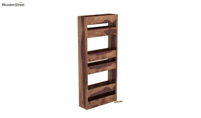 Alnus Magazine Rack (Teak Finish)-2