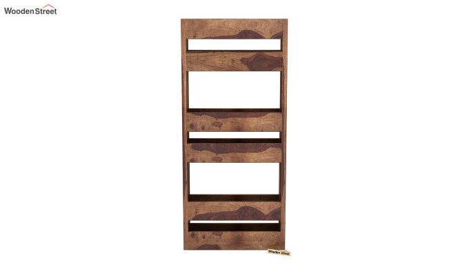 Alnus Magazine Rack (Teak Finish)-3