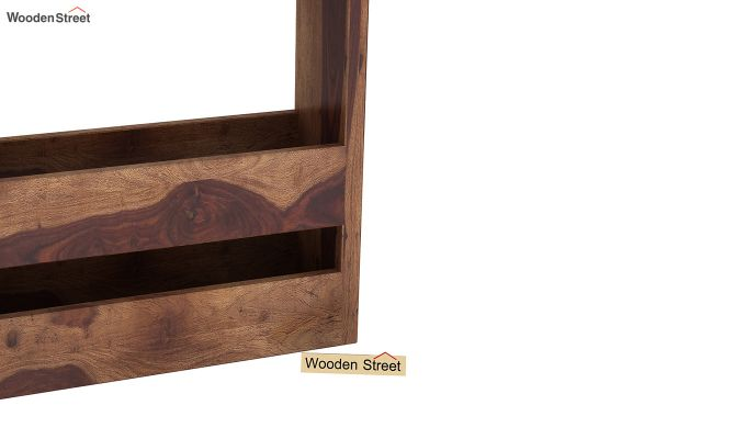 Alnus Magazine Rack (Teak Finish)-4
