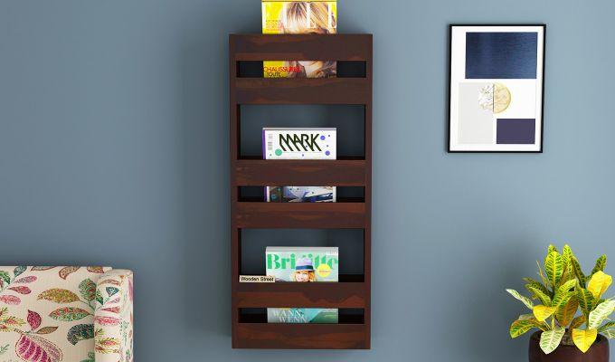 Alnus Magazine Rack (Walnut Finish)-1
